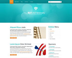 CyanicDots Website Template