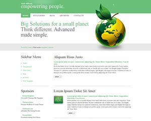 GreenPeace Website Template