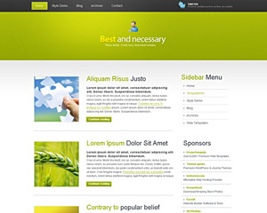 GreenyPat Website Template