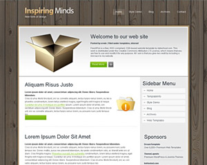 WoodenBlock Website Template